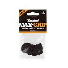 Dunlop Max-Grip® Jazz III Stiffo Guitar Pick - 6 Pack