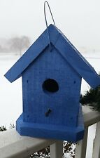 Hand Crafted Blue Finch Birdhouse - Lancaster Cnty - Pa