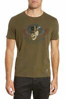 John Varvatos Star USA Men's Sz XL Freedom Skull Graphic Crew T-Shirt Dk Fatigue