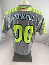 Euc Champion Lxm Neon Green grey Lacrosse sports jersey Powell 00 Medium