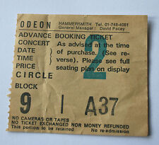 GARY MOORE Concert Ticket Stub 1987 Hammersmith Odeon(NOT shirt patch)