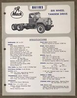 1972 Mack R611RS original Australian sales brochure