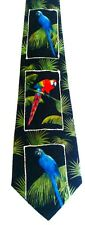 Parrots Birds Bling Novelty Animal Men's Necktie Neck Tie Sleeved Steven Harris