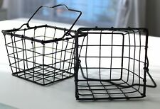 Country-Primitive-Farmhou se-Style-Wire-Berry-Basket -with-Handle Vintage