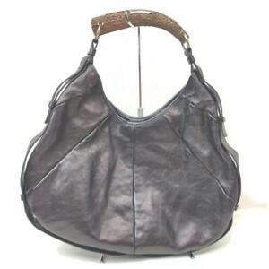 Yves Saint Laurent Black Leather Mombasa Hobo Bag 862906