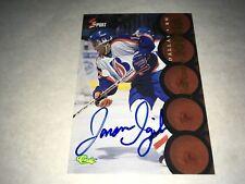 Jarome Iginla 1995 Classic 5 Sport Autographed Hockey Card