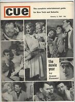 Cue January 1963 .25¢ Cover - New York Magazine - Movie of the year hollywood