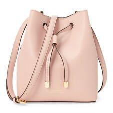Ralph Lauren Mini Debby II Drawstring Leather Bag (Pink / Porcini)