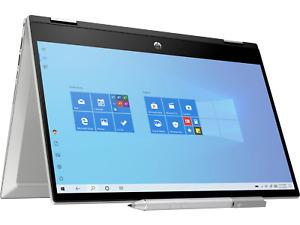 """HP Pavilion x360 14-dw1000na 14"""" Laptop i3-1115G4 8GB 128GB SSD Silver 2G2C5EA"""