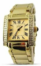 Gold Plated Band Square Watches with 12-Hour Dial