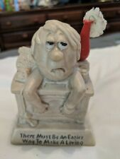 """Vtg Russ & Walla E Bertie Co. Figurine """"There Must Be A Better Way To Make A."""