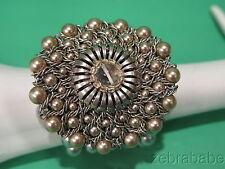 Vintage Miriam Haskell Pearl Cuff Bracelet