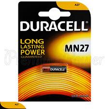 1 x Duracell Alkaline MN27 12V battery A27 GP27A E27A EL812