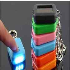 Torch Flashlight Solar Power Rechargable 3 LED Mini Light Lamp Keyring chain DI