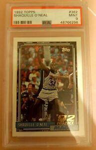 1992-93 Topps Shaquille O'Neal Rookie PSA 9 Mint  #326.HOF Stunning Card