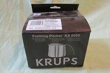 New Krups Stainless Steel Milk Frothing Pitcher Espresso Machine 20oz XS 5020