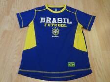 Youth Brazil Brasil M Soccer Futbol Athletic Shirt Tee Polyester