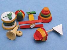 Dolls House Miniature Set of Wooden Toys 12th Scale