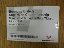 09/10/2005 billet: SUPERBIKE British Grand Prix [à Brands Hatch]. Merci de vi