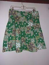 BCBG  Multi Colored Floral Skirt   sz  10 Waist  33 Length 22
