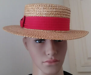 """CHAPEAU """"CANOTIER HAT VINTAGE"""