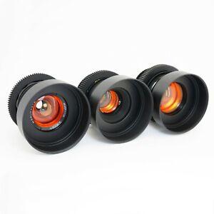 Anamorphic Flare & Bokeh Amber Set 37 58 85 Cine Lenses Canon EF, Sony E, M4/3