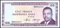 1993 BURUNDI 100 FRANCS BANKNOTE * DS 881613 * UNC * P-29c *