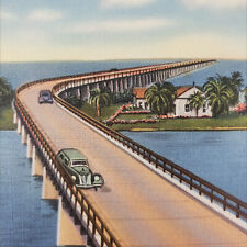 Old Linen New Overseas Highway Above Pigeon Key Key West Florida Postcard Way To