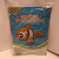 "Splash-N-Swim Nemo Splash Pool Inflatable Toy New/Sealed 36"" Summer Water Kids"
