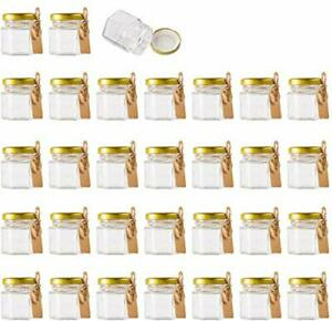 """""""""""""""Mini Glass Jars with Lids Small Honey Jam Container Clear Storage X30 1.5o..."""