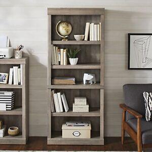 5 shelf bookcase, Rustic Gray Finish