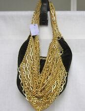 EVANTINI BIJOUX NWT Brown Velvet Gold Chain Purse ITALY $305