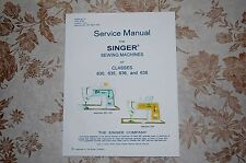 Professional Full Edition Service Manual: Singer 630 635 636 638 Sewing Machines