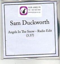 (CW607) Sam Duckworth, Angels in the Snow - 2011 DJ CD
