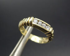 New Old Stock 14k Gold 4 Diamond Wedding Band or Right Hand Ring