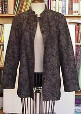 Jessica Holbrook Dark Gray Tapestry Jacket size 6