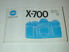 NOTICE MINOLTA X700 en HOLLANDAIS  photo photographie