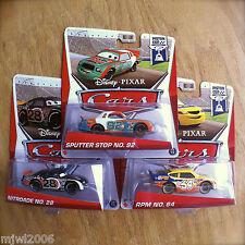 Disney PIXAR Cars NITROADE, SPUTTER STOP, RPM PISTON CUP diecast 10&15&17/18 lot