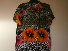 New Hibiscus design shirt  Sz:   , M 1pc) , L 3pcs) , XL 4pcs) 2XL 5 pcs) ,