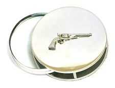 Revolver Pistol Magnifying Reading Glass Desktop Office Classic Vintage Gun Gift