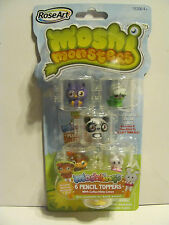 6 Moshi Monsters Moshlings Pencil toppers and cases Bunny, etc 2012  *** NEW ***