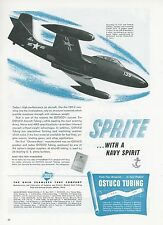 1951 Ostuco Tubing Ad McDonnell Navy F2H-2 Banshee Jet Fighter USN F2H Aircraft