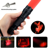 Green/Red/Blue/White LED Hunting Light Tactical Flashlight Hog Search Light Zoom