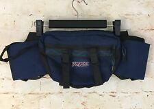 Vintage 90's Jansport Fanny Waist Pack Pouch Belt Bag Bottle Pocket Blue