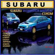 SUBARU WRX FORESTER LEGACY LIBERTY MASTER WORKSHOP CDROM
