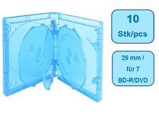 Blu-Ray ELITE Hüllen 25 mm für 7 Disc - 10 Stück - blau
