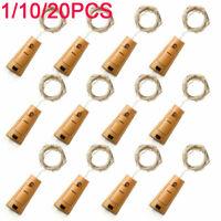 Lot Solar Bottle Cork String 8/10/15/20 LED Copper Wire Starry Fairy Lights Du