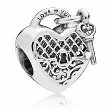 Genuine Pandora Sterling Silver Love You Lock Charm - 797655
