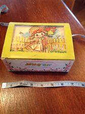 Vintage Child's Hollie Hobby Style Jewellery Box