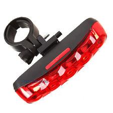 Mountain bike vélo 5 led rouge arrière de sécurité lampe étanche lumière neuf